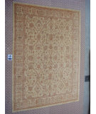 RugStudio presents J. Aziz Peshawar Ult-127 Beige-Beige 86941 Hand-Knotted, Good Quality Area Rug