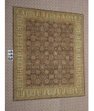 RugStudio presents J. Aziz Peshawar Ult-Haj Brown-Beige 87048 Hand-Knotted, Good Quality Area Rug