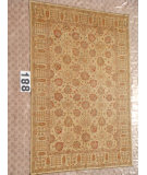 RugStudio presents J. Aziz Peshawar Ult-Tab Beige-Beige 87054 Hand-Knotted, Good Quality Area Rug