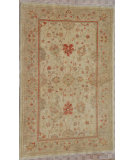 RugStudio presents J. Aziz Peshawar Ult-766 Beige- Gold 87033 Hand-Knotted, Best Quality Area Rug