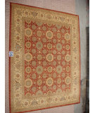 RugStudio presents J. Aziz Peshawar Ult-402 Red-Beige 86988 Hand-Knotted, Good Quality Area Rug