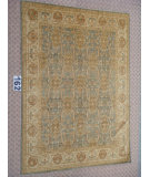 RugStudio presents J. Aziz Peshawar Ult-560 SoftBlue-Beige 87001 Hand-Knotted, Good Quality Area Rug