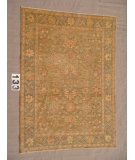 RugStudio presents J. Aziz Peshawar Ult-138 Green-Sbl 86953 Hand-Knotted, Good Quality Area Rug