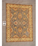 RugStudio presents J. Aziz Peshawar Ult-197 Gray-Beige 86977 Hand-Knotted, Good Quality Area Rug