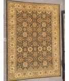 RugStudio presents J. Aziz Peshawar Ult-137 Gray-Beige 86946 Hand-Knotted, Good Quality Area Rug