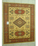 RugStudio presents J. Aziz Kazak Geometric 86866 Hand-Knotted, Good Quality Area Rug