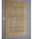 RugStudio presents J. Aziz Peshawar Ult-756 Soft Blue- Light Green 87032 Hand-Knotted, Good Quality Area Rug