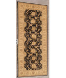 RugStudio presents J. Aziz Peshawar Ult-831 Black 87039 Hand-Knotted, Good Quality Area Rug