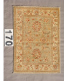 RugStudio presents J. Aziz Peshawar Ult-815 Light Green 87038 Hand-Knotted, Good Quality Area Rug