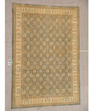 RugStudio presents J. Aziz Peshawar Ult-110 Gray-Beige 86929 Hand-Knotted, Good Quality Area Rug