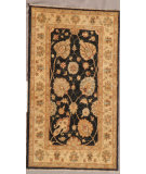 RugStudio presents J. Aziz Peshawar Ult-167 Black-Beige 86960 Hand-Knotted, Good Quality Area Rug