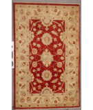 RugStudio presents J. Aziz Peshawar Ult-380 Red-Beige 86985 Hand-Knotted, Good Quality Area Rug