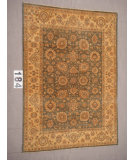 RugStudio presents J. Aziz Peshawar Ult-Haj Gray-Beige 87050 Hand-Knotted, Good Quality Area Rug