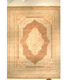 RugStudio presents J. Aziz Haj Jalili V-1726 Walnut / Light Blue Hand-Knotted, Good Quality Area Rug