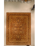 RugStudio presents J. Aziz Haj Jalili V-1745 Gold / Charcoal Hand-Knotted, Good Quality Area Rug