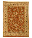RugStudio presents J. Aziz Antiqued Jaipur Srj-29 Ginger Brown- Sand 86861 Hand-Knotted, Good Quality Area Rug