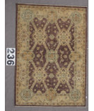 RugStudio presents J. Aziz Peshawar Wool-Sil Brown-Beige 87058 Hand-Knotted, Best Quality Area Rug