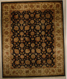 RugStudio presents J. Aziz Antiqued Jaipur Asl-2 Ebo-Gol 86847 Hand-Knotted, Good Quality Area Rug
