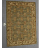 RugStudio presents J. Aziz Peshawar Ult-560 SoftBlue-Beige 87003 Hand-Knotted, Good Quality Area Rug
