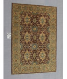 RugStudio presents J. Aziz Peshawar Ult-648 Brown-Gray 87012 Hand-Knotted, Good Quality Area Rug