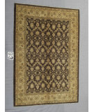 RugStudio presents J. Aziz Peshawar Ult-909 Brown-Green 87046 Hand-Knotted, Good Quality Area Rug