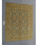 RugStudio presents J. Aziz Peshawar Ult-648 SoftBlue-Gold 87017 Hand-Knotted, Good Quality Area Rug