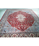 RugStudio presents J. Aziz Indo-Kashan K-100 Red-Ivory 86864 Hand-Knotted, Good Quality Area Rug