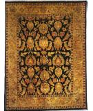 RugStudio presents Kalaty Jaipura Jp-420 Black/Gold Hand-Knotted, Best Quality Area Rug