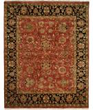 RugStudio presents Kalaty Jaipura Jp-438 Rust/Black Hand-Knotted, Best Quality Area Rug