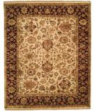 RugStudio presents Rugstudio Sample Sale 13579R Beige/Burgundy Hand-Knotted, Best Quality Area Rug