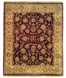 RugStudio presents Rugstudio Sample Sale 13592R Aubergine/Ivory Hand-Knotted, Better Quality Area Rug