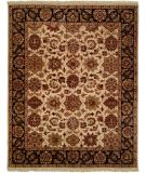 RugStudio presents Kalaty Lateef Lt-805 Ivory/Black Hand-Knotted, Better Quality Area Rug