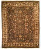RugStudio presents Kalaty Lateef Lt-807 Medium Green/Ivory Hand-Knotted, Better Quality Area Rug