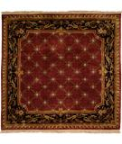 RugStudio presents Kalaty Le Palais Ps-521 Plum/Black Hand-Tufted, Best Quality Area Rug