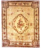 RugStudio presents Kalaty Riviera Rv613 Ivory/Plum Hand-Knotted, Best Quality Area Rug
