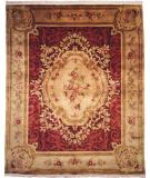 RugStudio presents Kalaty Riviera Rv614 Plum/Beige Hand-Knotted, Best Quality Area Rug