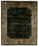 RugStudio presents Kalaty Riviera Rv615 Medium Green/Ivory Hand-Knotted, Best Quality Area Rug