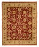 RugStudio presents Rugstudio Famous Maker 39044 Burgundy-Ivory Flat-Woven Area Rug