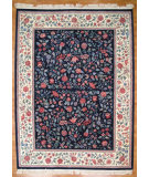 RugStudio presents Kalaty Oak 093930 Navy Hand-Knotted, Good Quality Area Rug