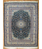 RugStudio presents Kalaty Oak 100558 Dark Green Hand-Knotted, Good Quality Area Rug