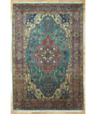 RugStudio presents Kalaty Oak 125214 Green Rust Hand-Knotted, Good Quality Area Rug