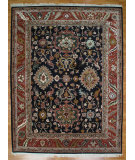 RugStudio presents Kalaty Oak 131439 Navy Rust Hand-Knotted, Good Quality Area Rug