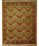RugStudio presents Kalaty Oak 143373 Rust Hand-Knotted, Good Quality Area Rug