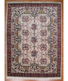 RugStudio presents Kalaty Oak 145552 Ivory Rust Hand-Knotted, Good Quality Area Rug