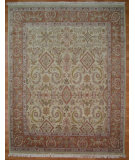 RugStudio presents Kalaty Oak 147488 Ivory Rust Hand-Knotted, Good Quality Area Rug