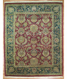 RugStudio presents Kalaty Oak 154153 Burgundy Green Hand-Knotted, Good Quality Area Rug