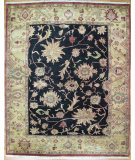 RugStudio presents Kalaty Oak 158776 Black Beige Hand-Knotted, Good Quality Area Rug