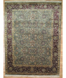 RugStudio presents Kalaty Oak 166267 Green Red Hand-Knotted, Good Quality Area Rug