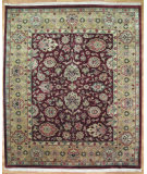 RugStudio presents Kalaty Oak 167298 Burgundy Gold Hand-Knotted, Good Quality Area Rug