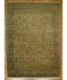 RugStudio presents Kalaty Oak 169320 Beige Green Hand-Knotted, Good Quality Area Rug